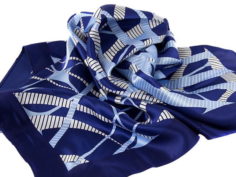 af1ecd38ad004c Apaszka 100% jedwab SQUARE-BLUE2 | Krawaty E.VENZO - modne krawaty i ...